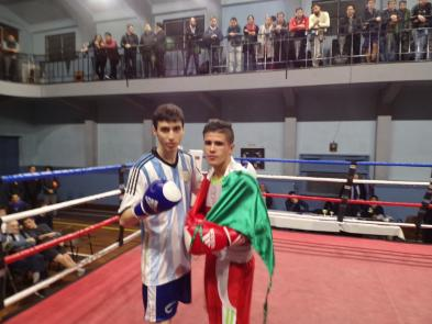 Agustin Lavarelo (ARG) y Brandon Rizo (MEX)