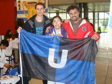 Copa Liga Argentina: Federico Rosenblat, Rosario González Fernández y el Prof. Juan José Ancona (coach)