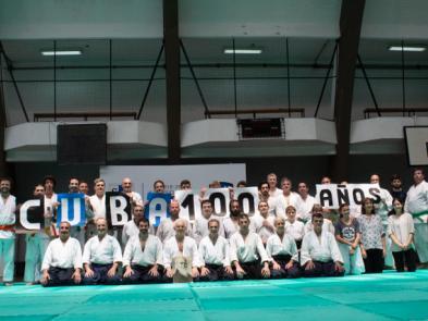 Cierre anual de aikido, con festejo de los 100 años
