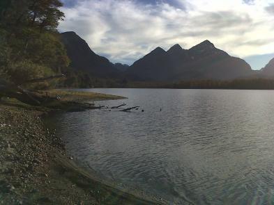 Vista del brazo Rincon Lago Nahuel Huapi Sede Arbolito