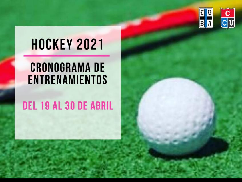 Hockey del 19 al 30 de abril