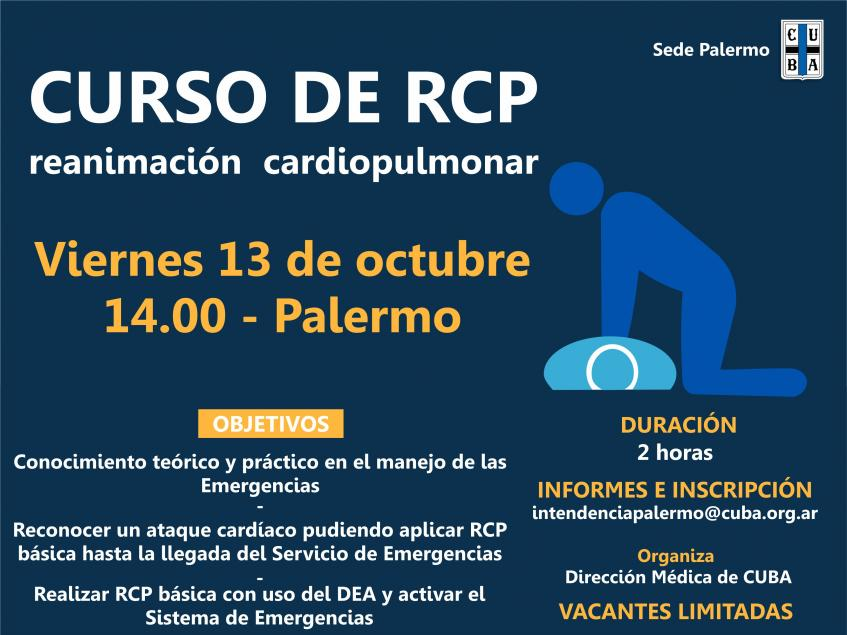 Curso de RCP - Viernes 13 de octubre a las 14:00 en Palermo | CUBA ...