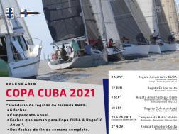 Calendario Regatas Copa CUBA 2021