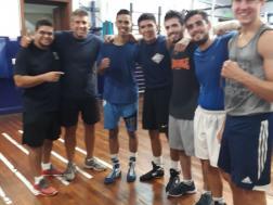 Junto a los muchachos del Almagro Boxing Club